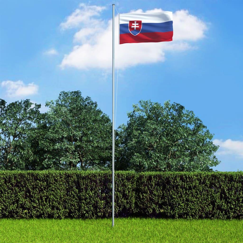 vidaXL Vlajka Slovensko 90x150 cm