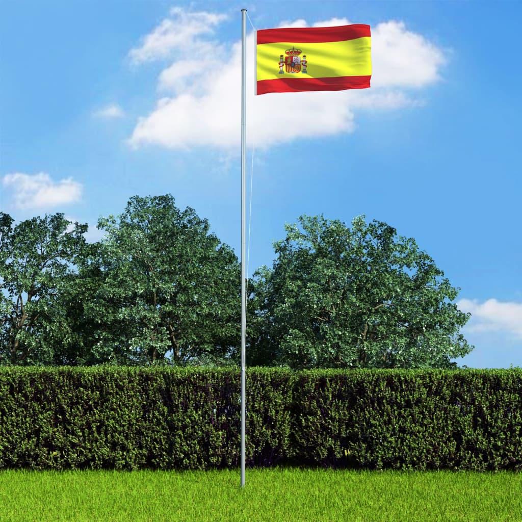 vidaXL Vlajka Španielsko 90x150 cm