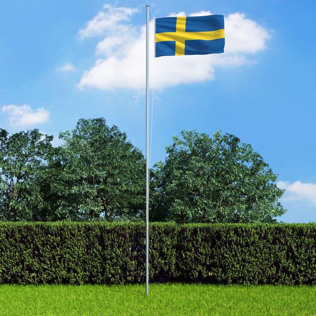 vidaXL Vlajka Švédsko 90x150 cm