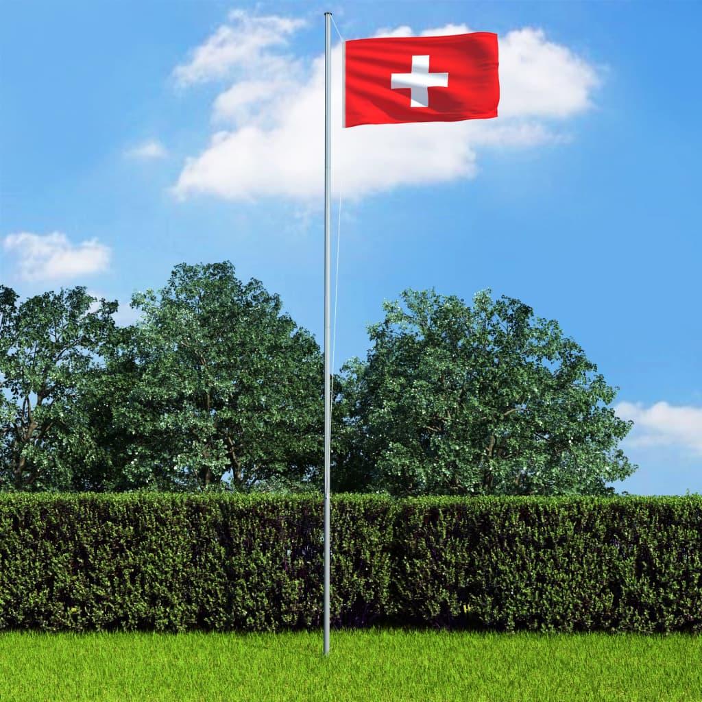vidaXL Vlajka Švajčiarsko 90x150 cm