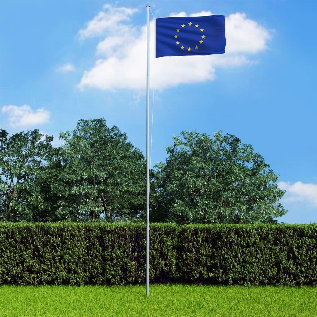 vidaXL Vlajka Európa 90x150 cm