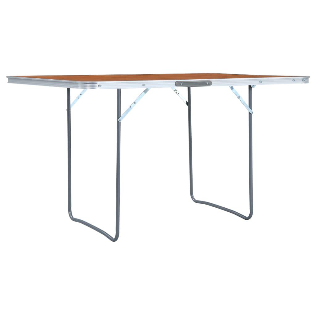 vidaXL Skladací kempingový stôl 180x60 cm hliníkový