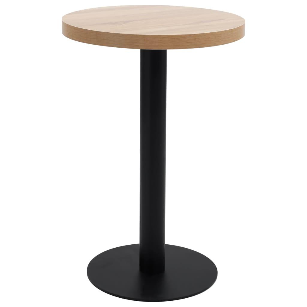 vidaXL Bistro stolík bledohnedý 50 cm MDF