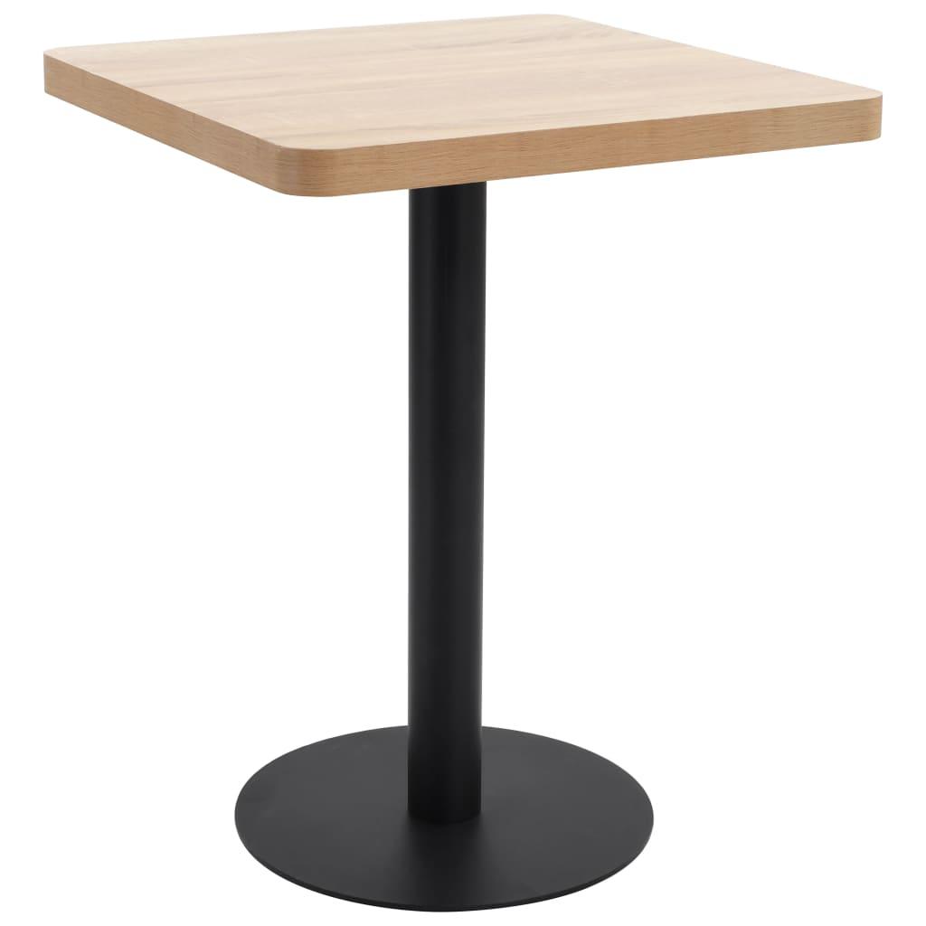 vidaXL Bistro stolík bledohnedý 60x60 cm MDF