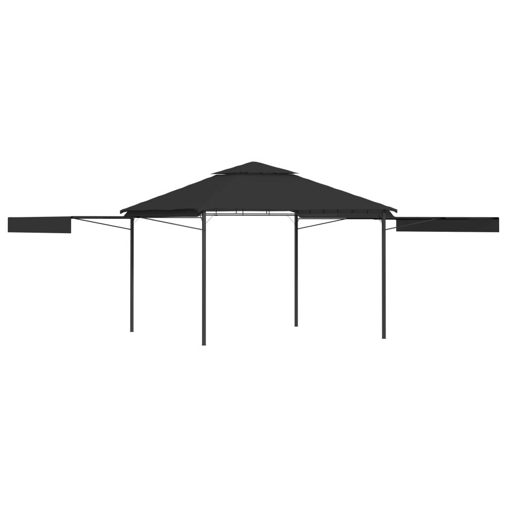 vidaXL Altánok s 2 výsuvnými strechami 3x3x2,75 m antracitový 180 g/㎡