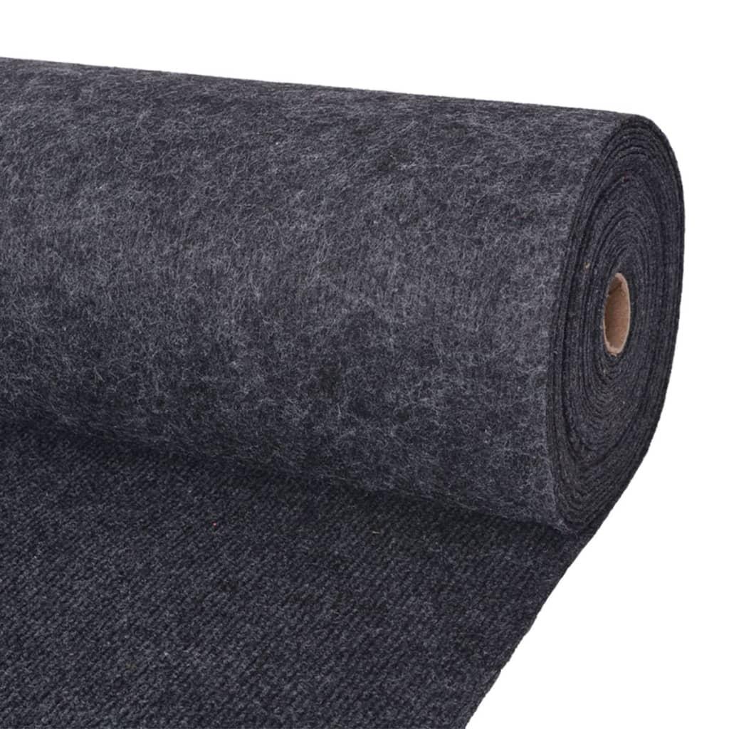 vidaXL Záťažový koberec 1,6x15 m antracitový