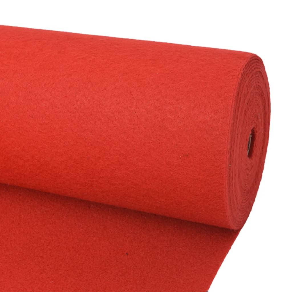 vidaXL Koberec na výstavu, jednofarebný 1,6x12 m, červený