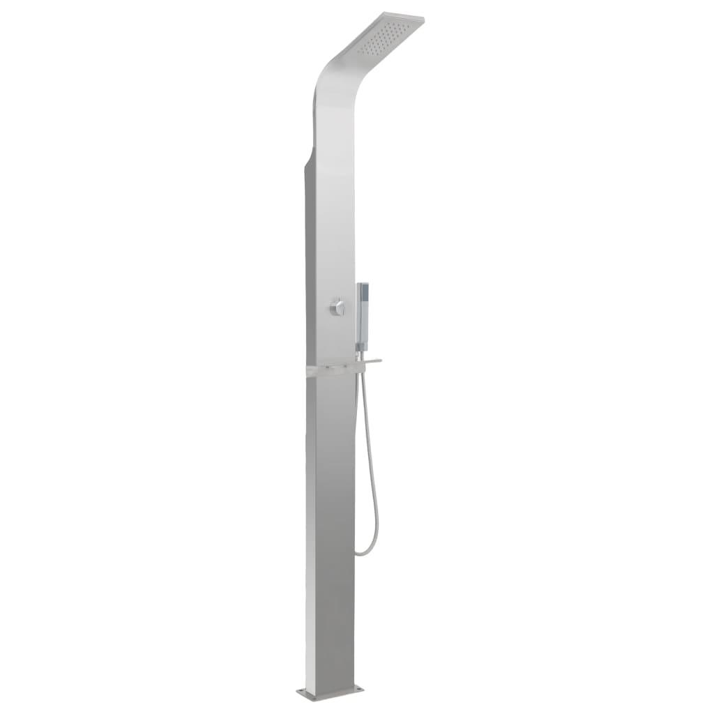 vidaXL Záhradný sprchový panel, nehrdzavejúca oceľ, zaoblený