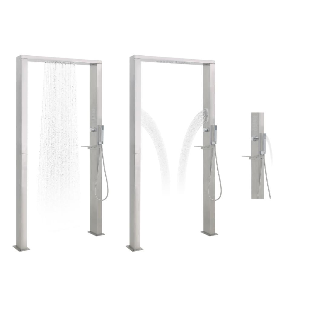 vidaXL Panelový sprchový systém, nehrdzavejúca oceľ, dvojitá tryska
