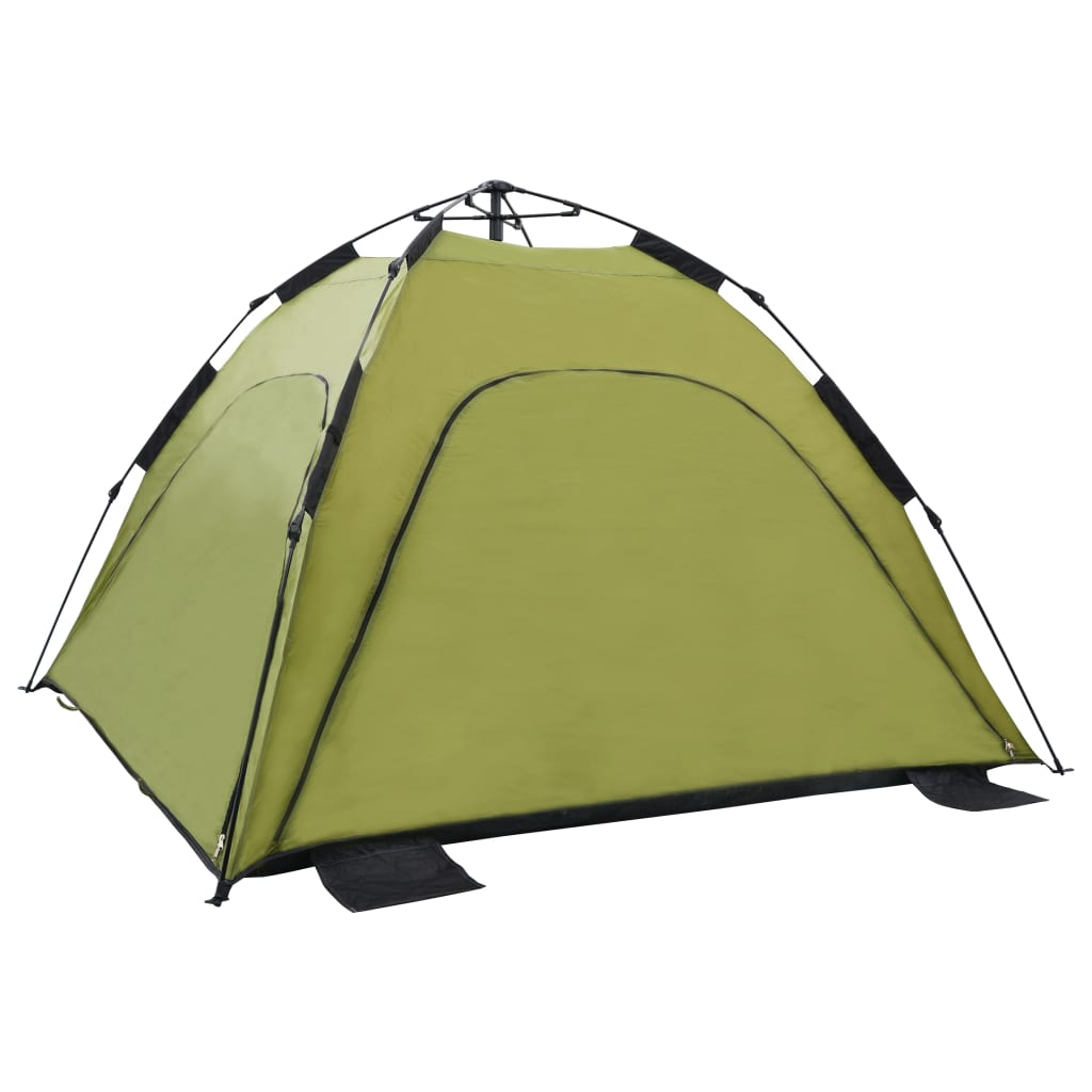 vidaXL Samorozkladací plážový stan zelený 220x220x160 cm