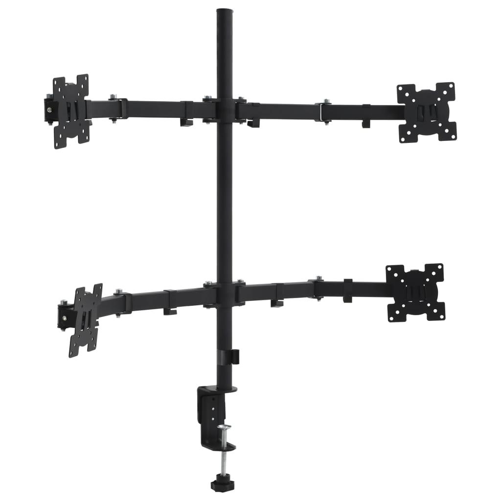 vidaXL 4-ramenný stolný držiak na monitor 13