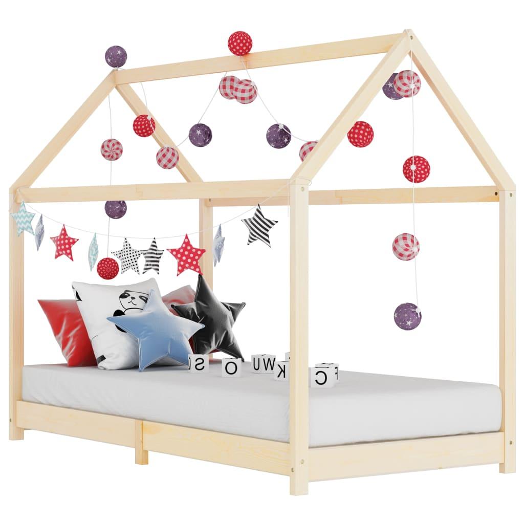 vidaXL Detský posteľný rám 70x140 cm borovicový masív