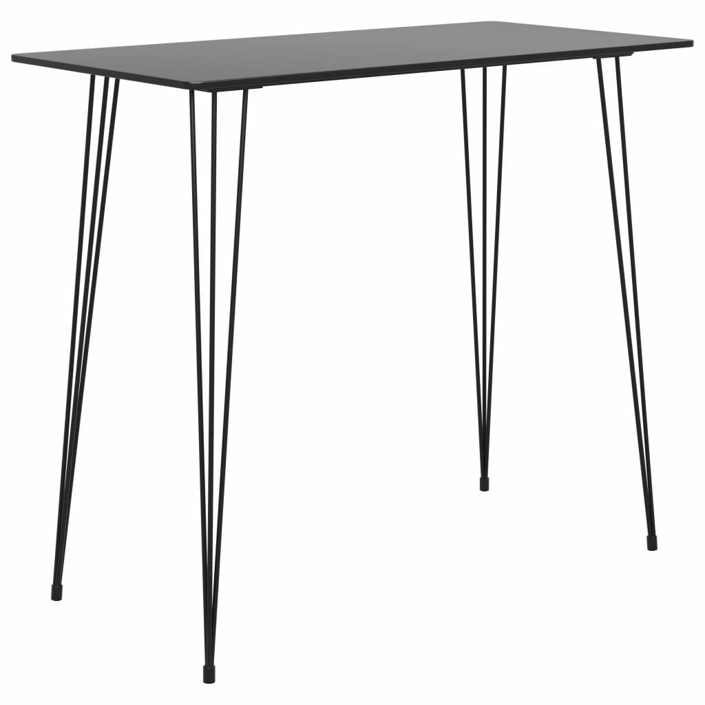 vidaXL Barový stolík čierny 120x60x105 cm