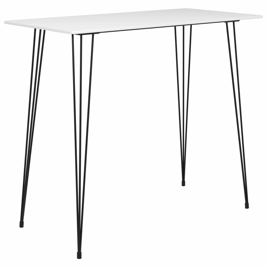 vidaXL Barový stolík biely 120x60x105 cm
