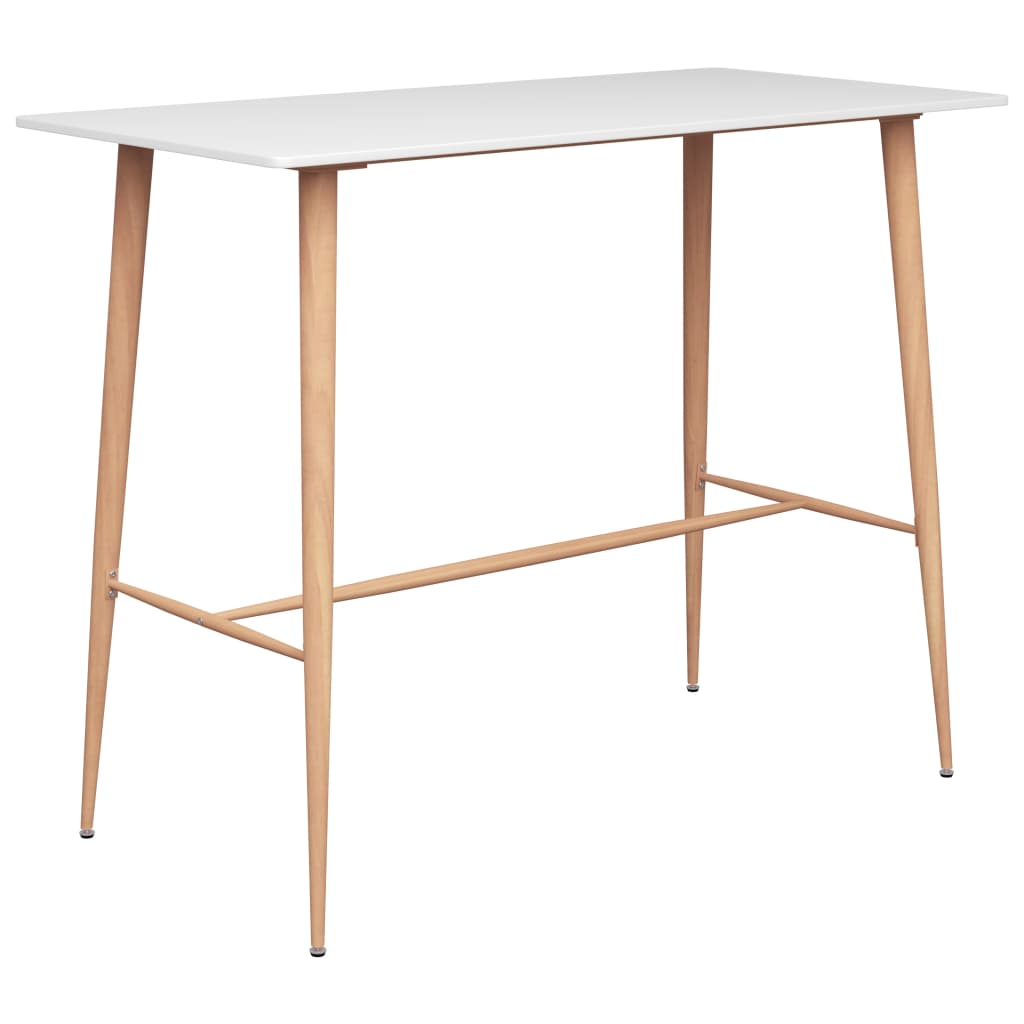 vidaXL Barový stôl biely 120x60x96 cm