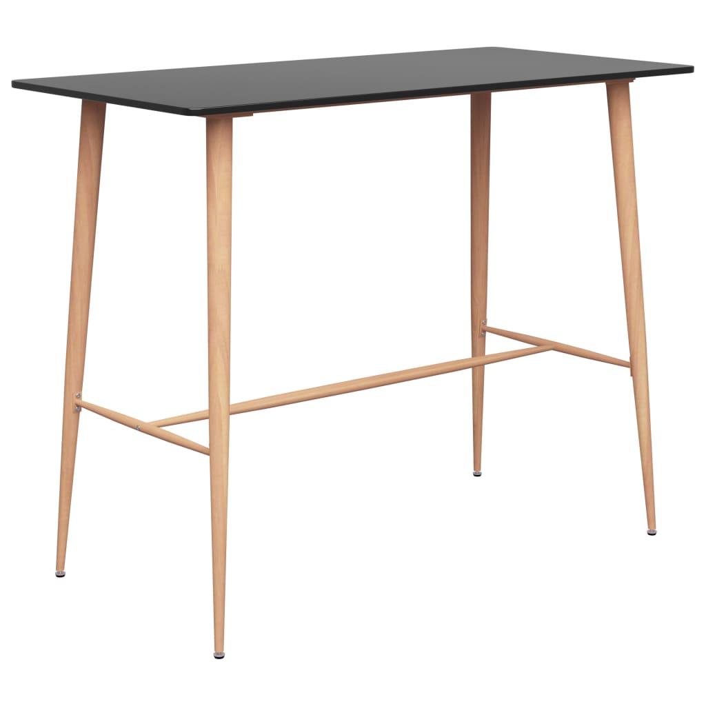 vidaXL Barový stôl čierny 120x60x96 cm