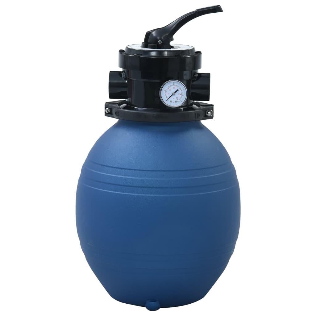 vidaXL Bazénový pieskový filter so 4 polohovým ventilom modrý 300 mm
