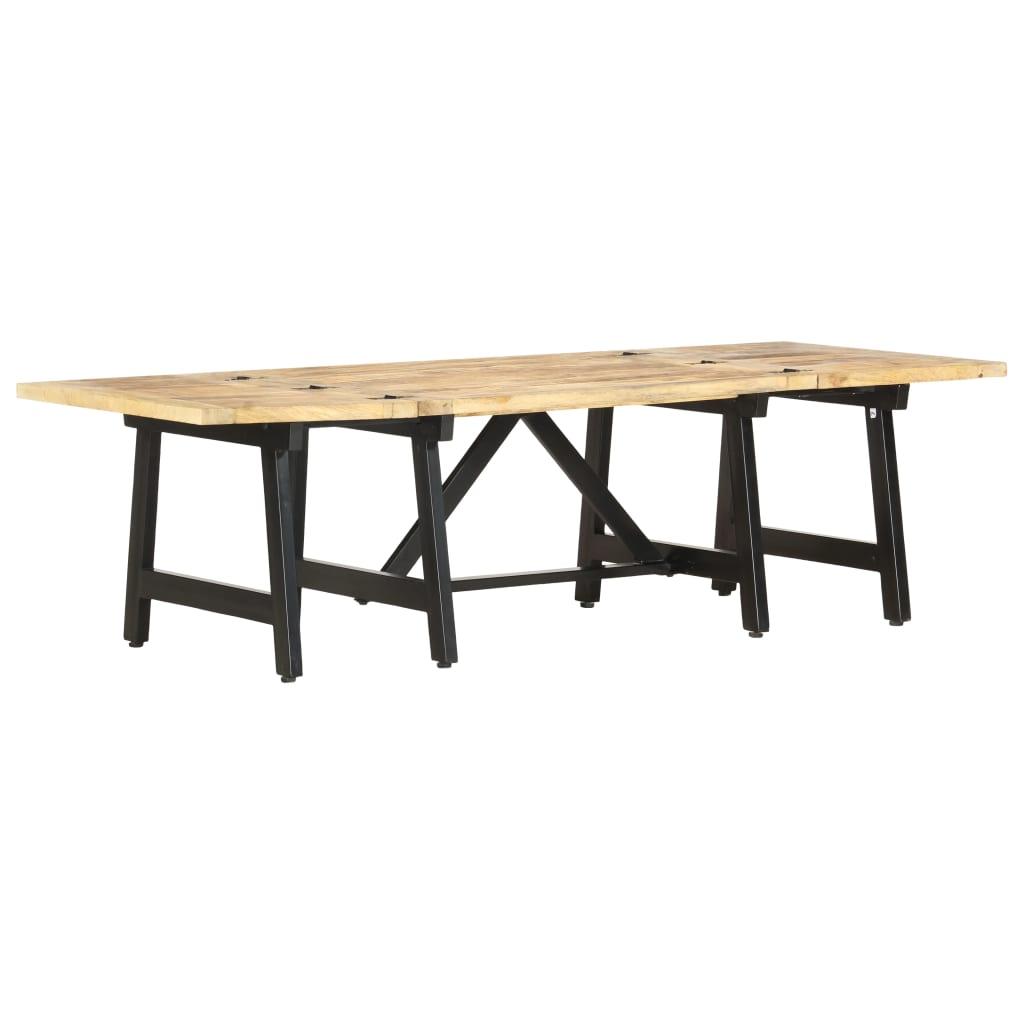 vidaXL Rozkladací jedálenský stôl 160x70x45 cm masívne mangovníkové drevo