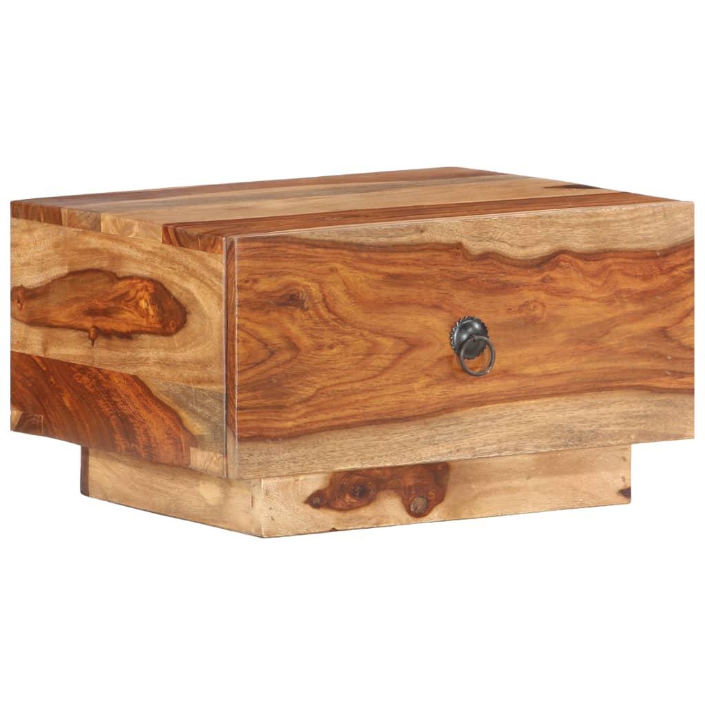 vidaXL Nočný stolík 40x40x25 cm masívne sheeshamové drevo