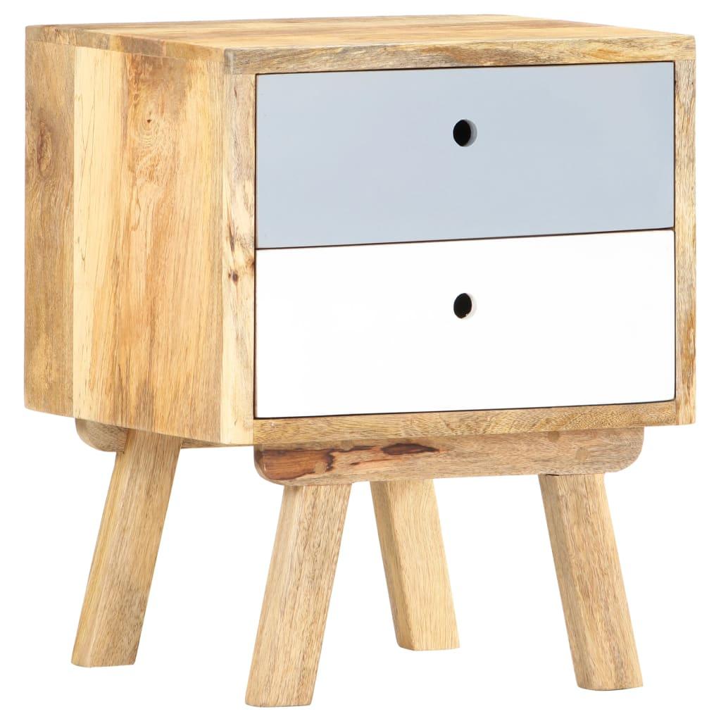 vidaXL Nočný stolík 40x35x50 cm mangovníkový masív