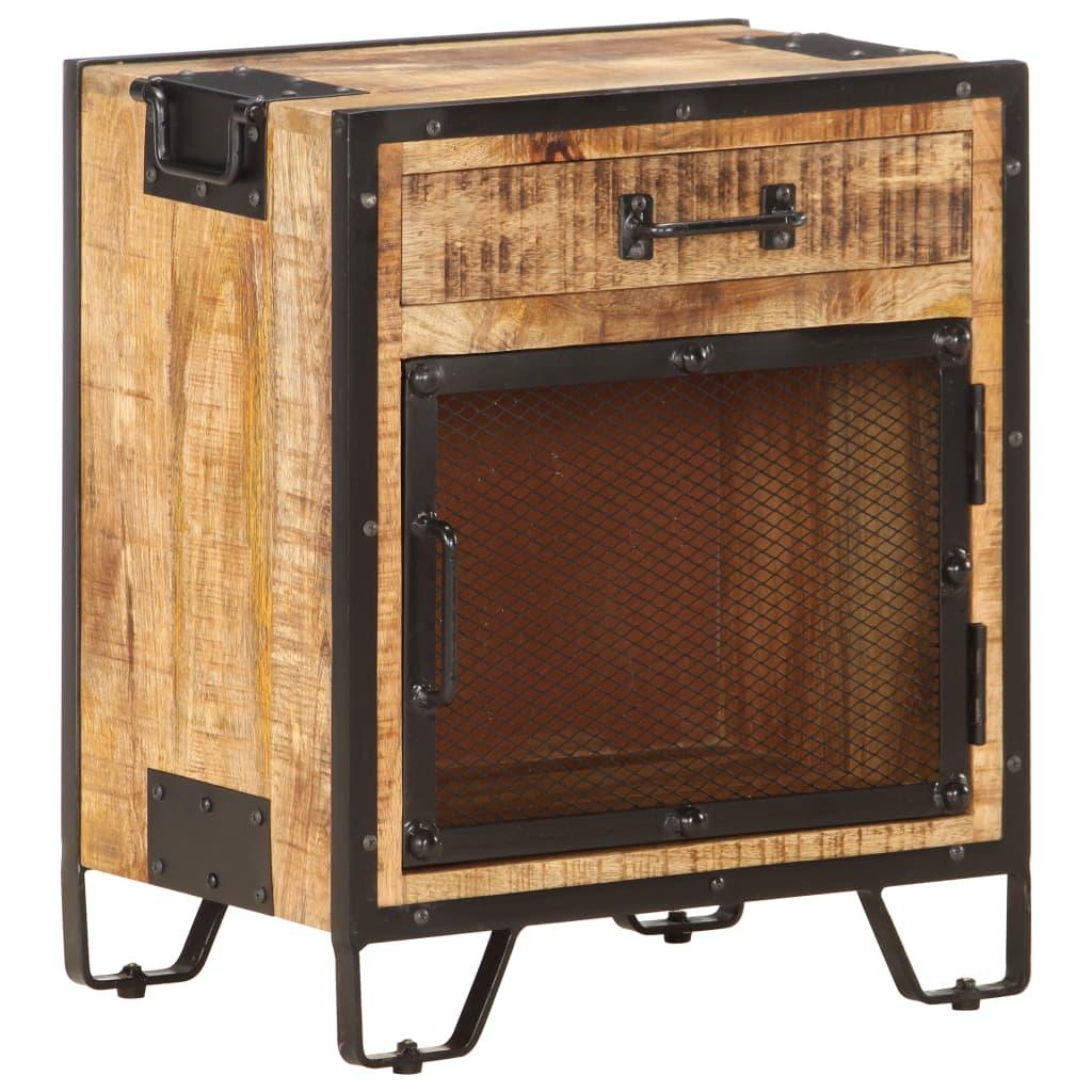 vidaXL Nočný stolík 43x30x51 cm surové mangovníkové drevo