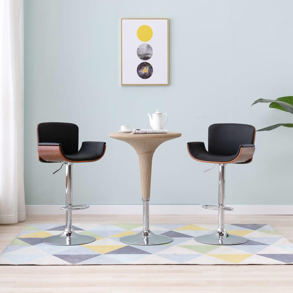 vidaXL Barová stolička, čierna, umelá koža