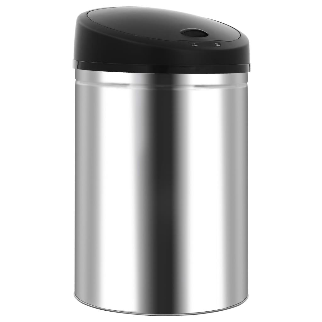 vidaXL Automatický odpadkový kôš so senzorom 32 l nehrdzavejúca oceľ