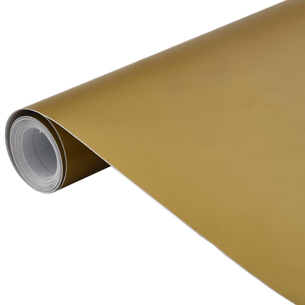 vidaXL Fólia na automobily matná zlatá 500x152 cm