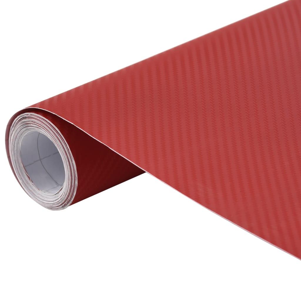 vidaXL Fólia na automobily matná 3D červená 200x152 cm
