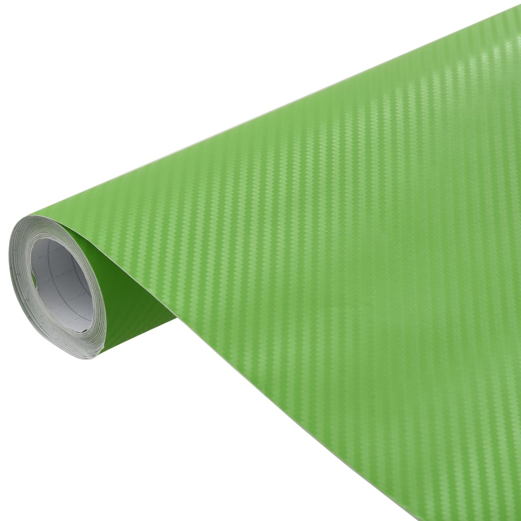 vidaXL Fólia na automobily matná 3D zelená 200x152 cm