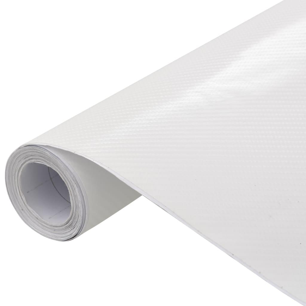 vidaXL Fólia na automobily matná 4D biela 200x152 cm