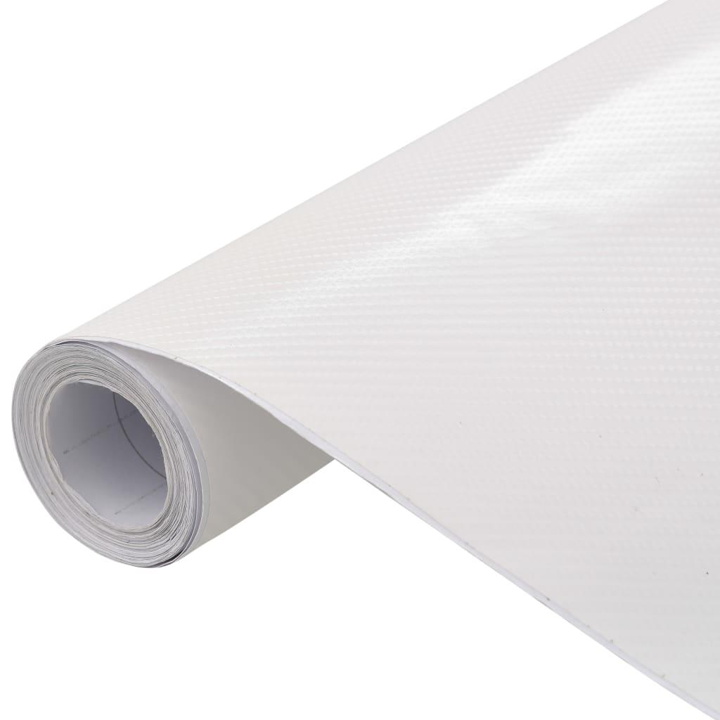 vidaXL Fólia na automobily matná 4D biela 500x152 cm