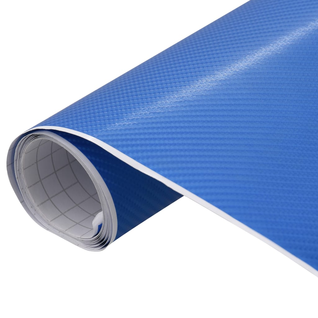 vidaXL Fólia na automobily matná 4D modrá 200x152 cm