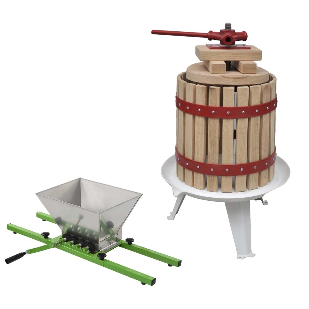 vidaXL 2-dielna sada lisu a drviča na ovocie a víno