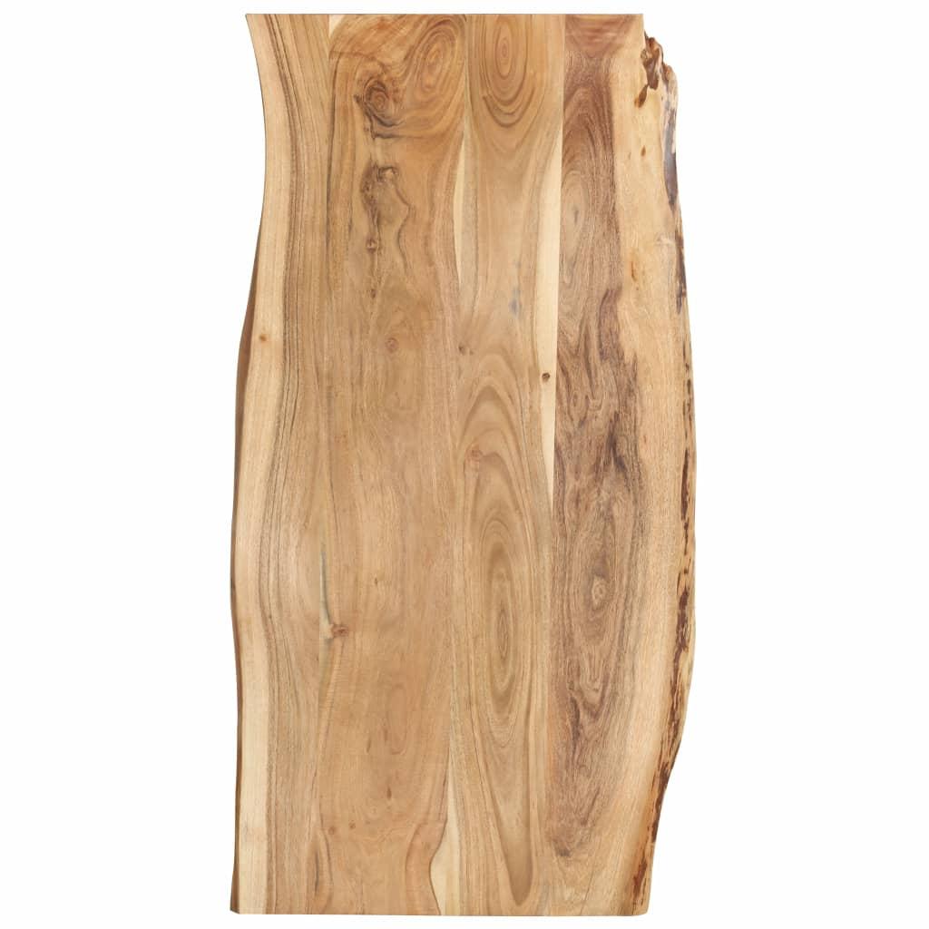 vidaXL Kuchynská doska stola masívne akáciové drevo 120x60x2,5 cm