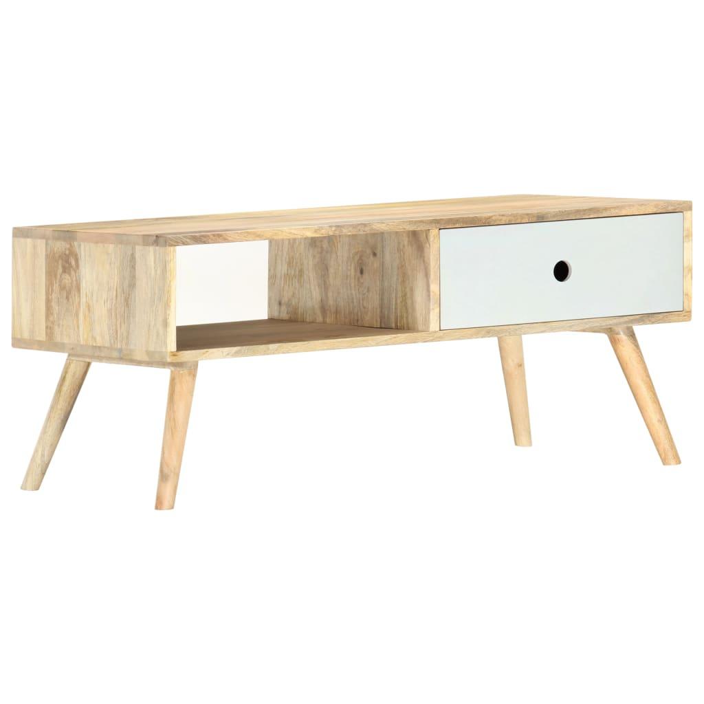 vidaXL Konferenčný stolík 90x50x40 cm masívne mangovníkové drevo
