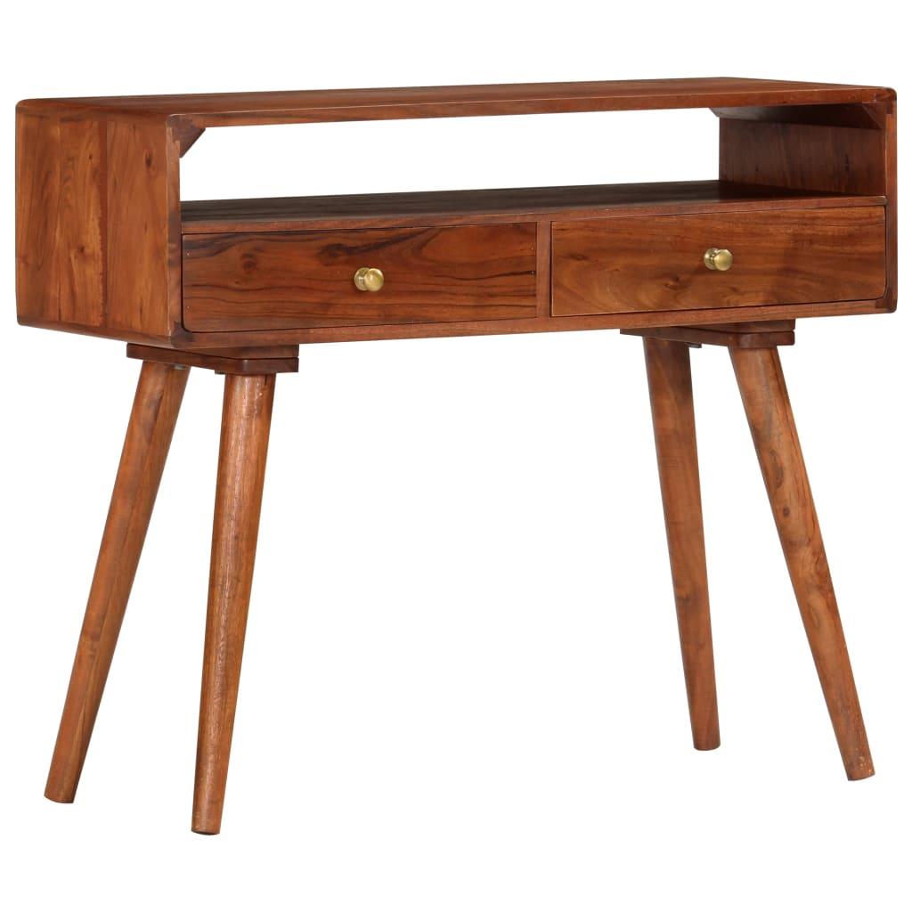 vidaXL Konzolový stolík 90x35x76 cm, akáciový masív