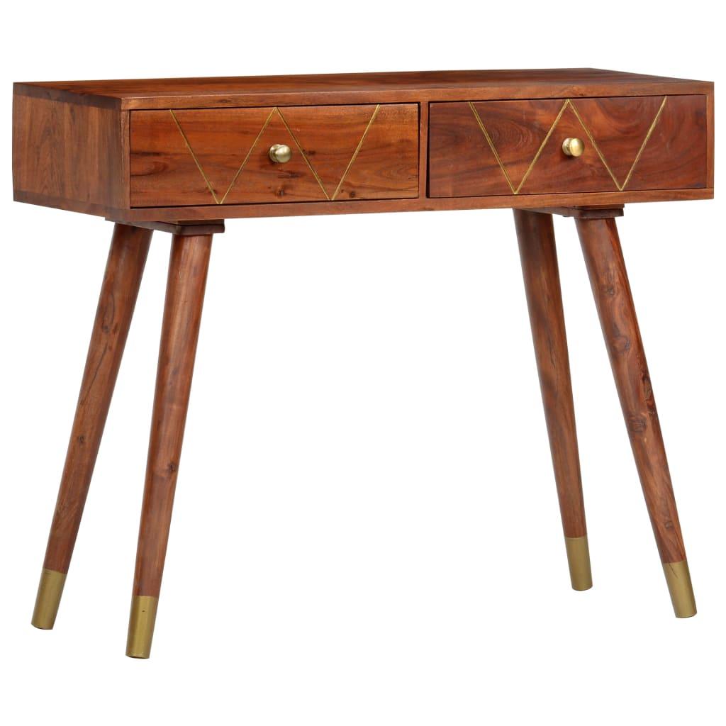 vidaXL Konzolový stolík 90x35x76 cm masívne akáciové drevo