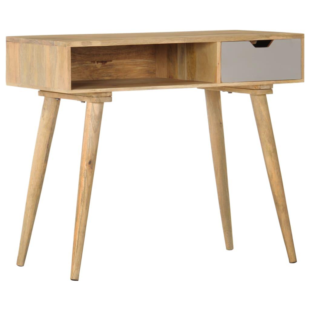 vidaXL Prístavný stolík 89x44x76 cm masívne mangovníkové drevo