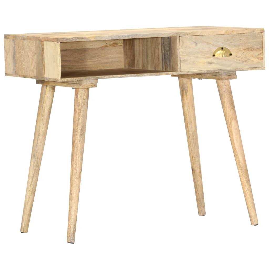 vidaXL Konzolový stolík 90x45x75 cm masívne mangovníkové drevo