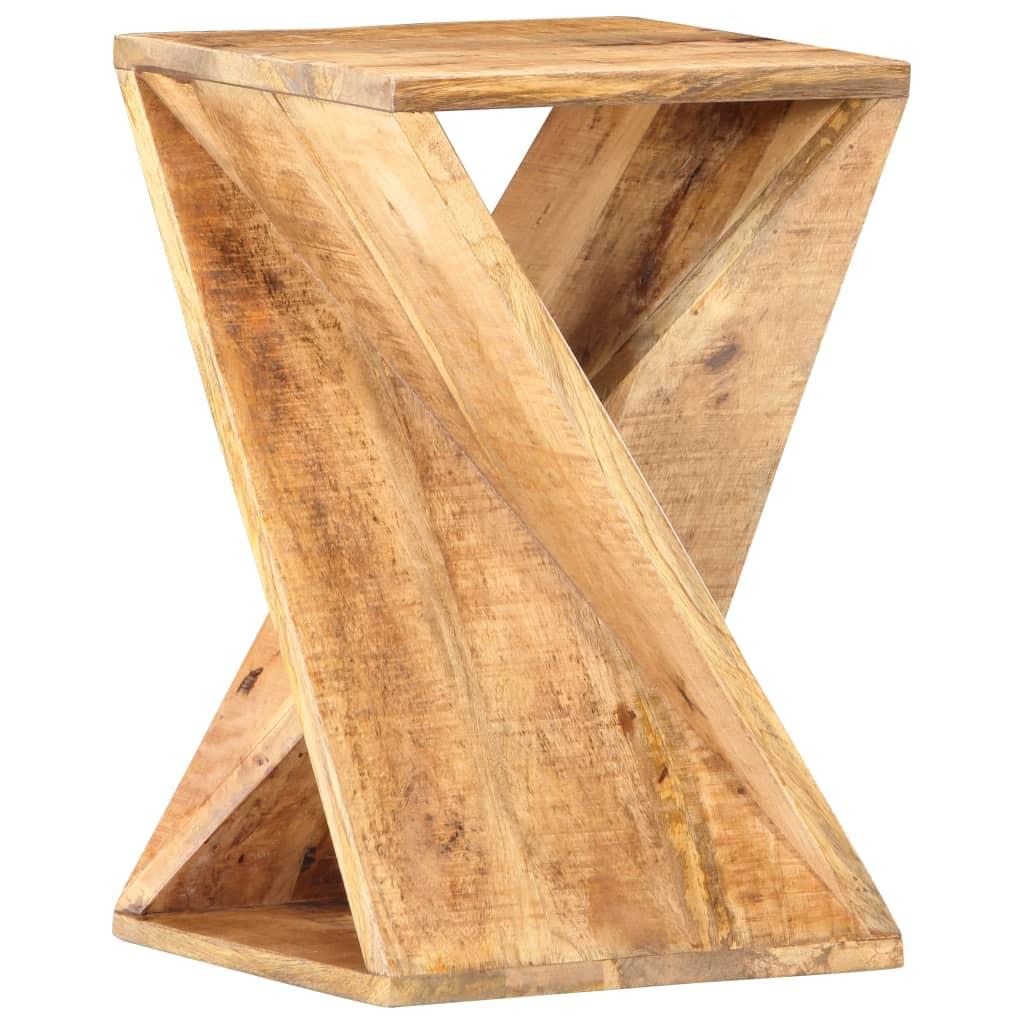 vidaXL Bočný stôl 35x35x55 cm masívne mangovníkové drevo