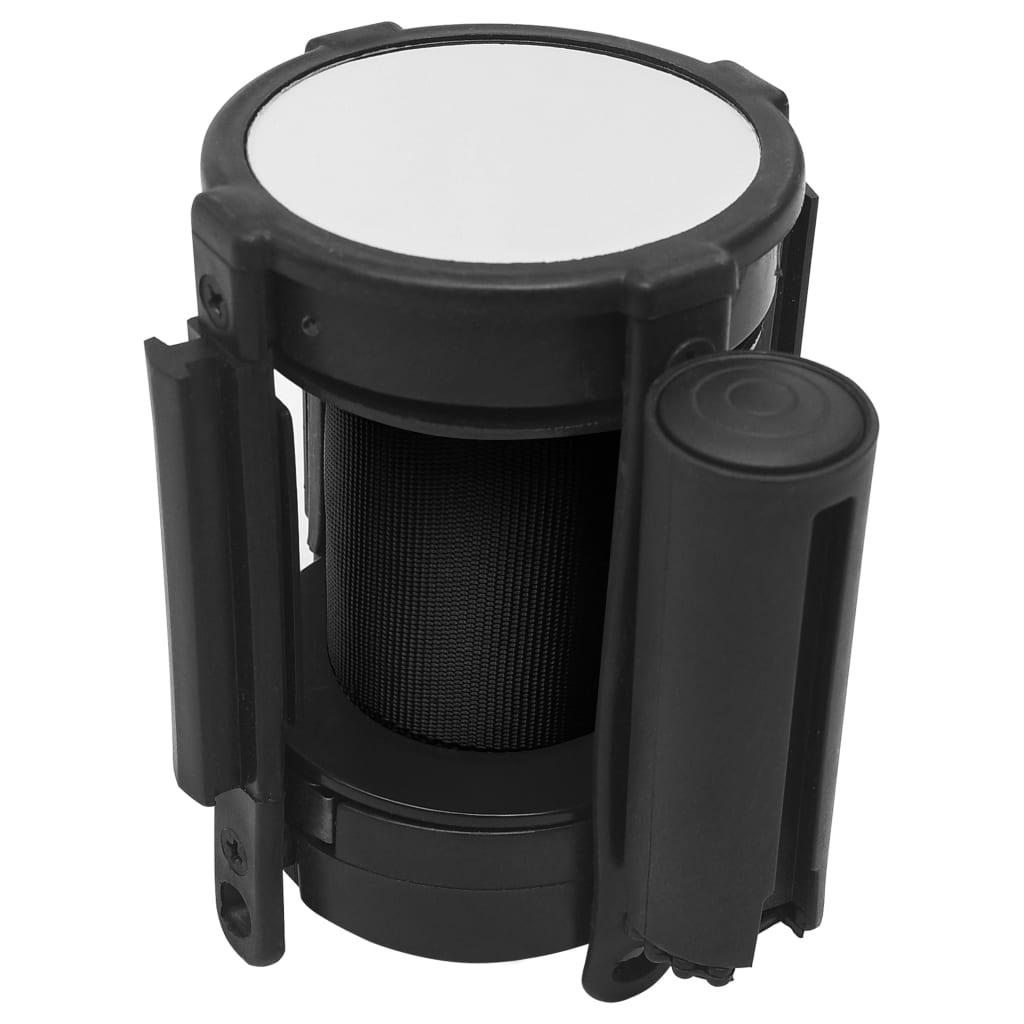 vidaXL Zaťahovacia bariéra čierna 200 cm