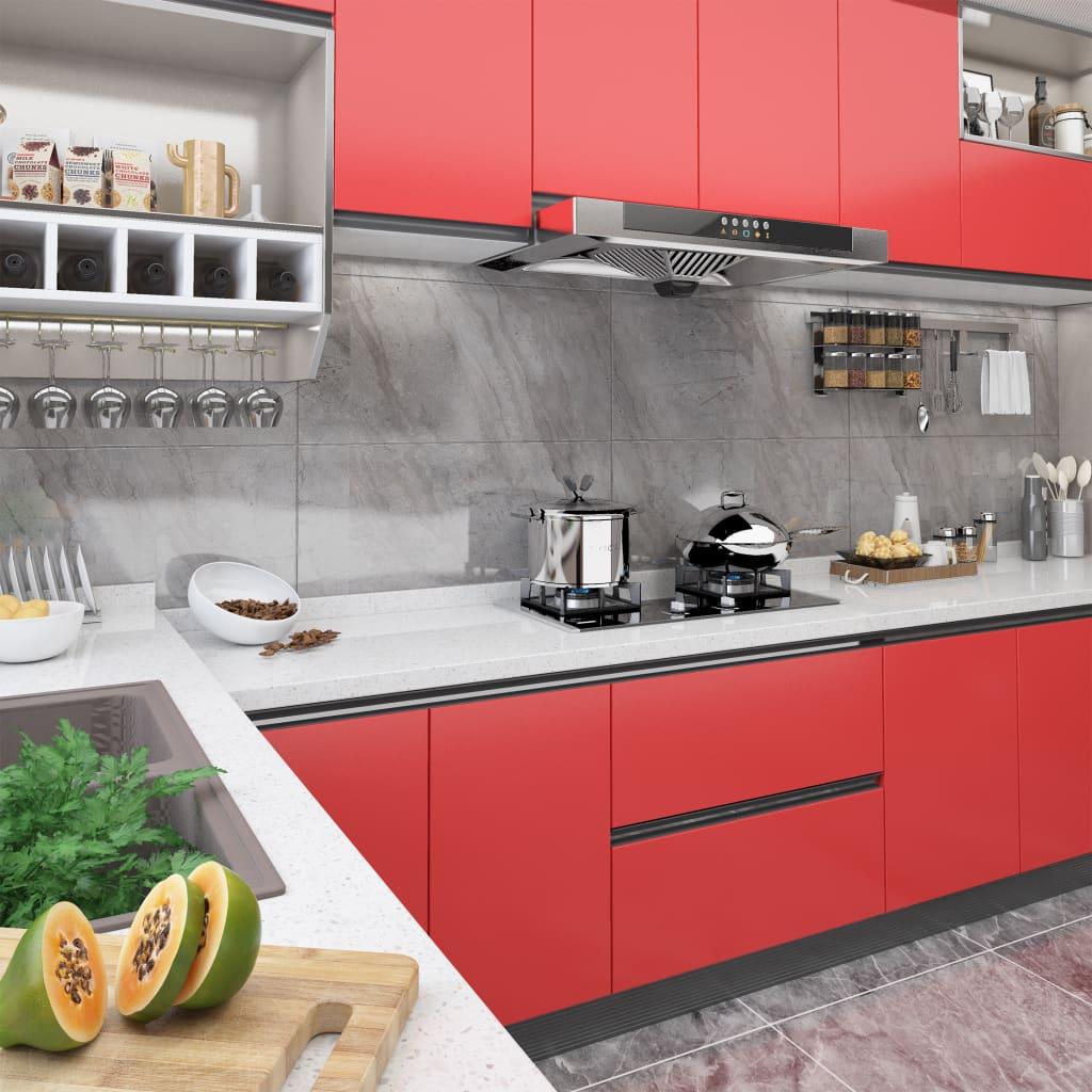 vidaXL Samolepiacia fólia na nábytok červená 500x90 cm PVC
