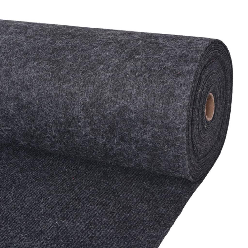 vidaXL Záťažový koberec antracitový 1,6x20 m rebrovaný