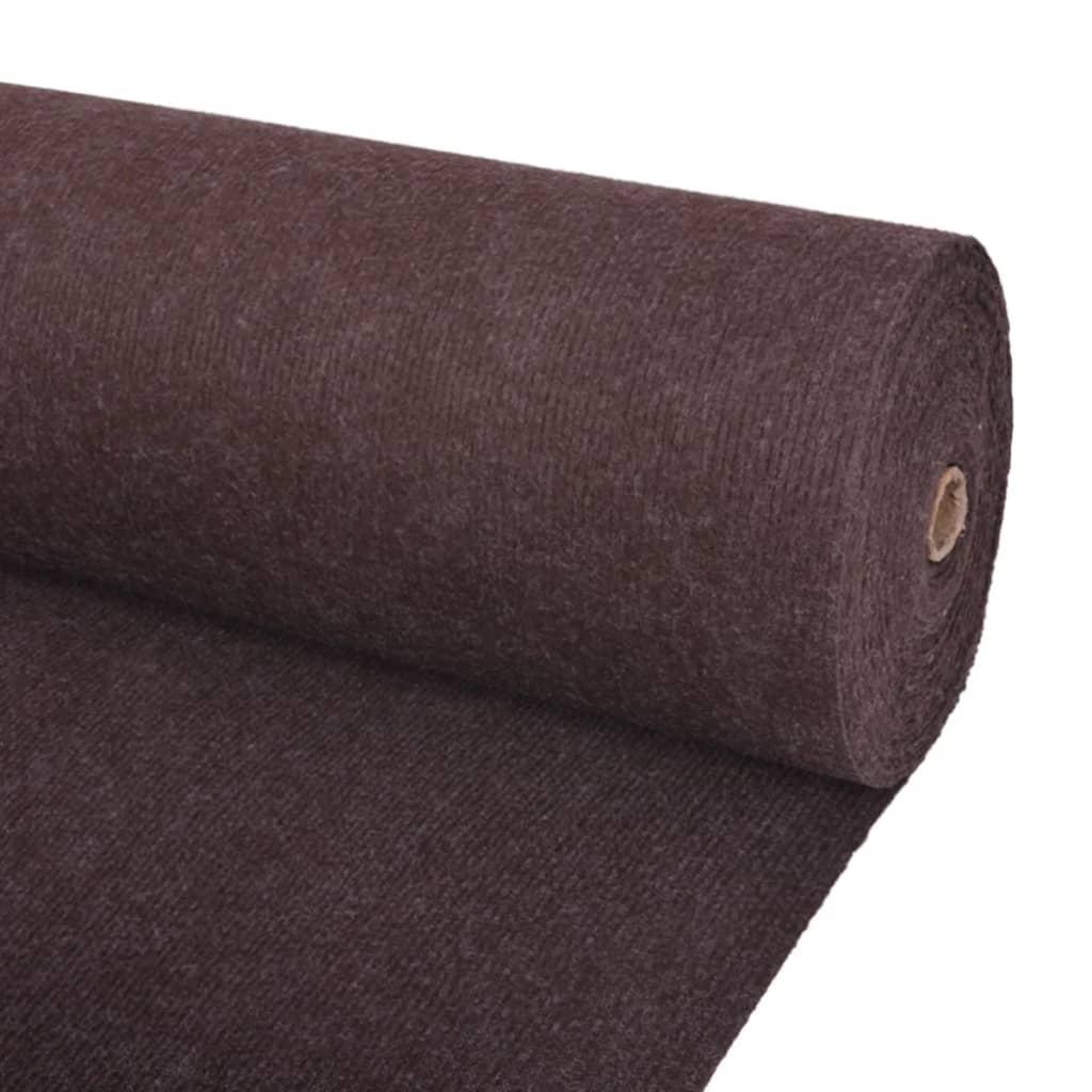 vidaXL Záťažový koberec hnedý 1,6x20 m rebrovaný