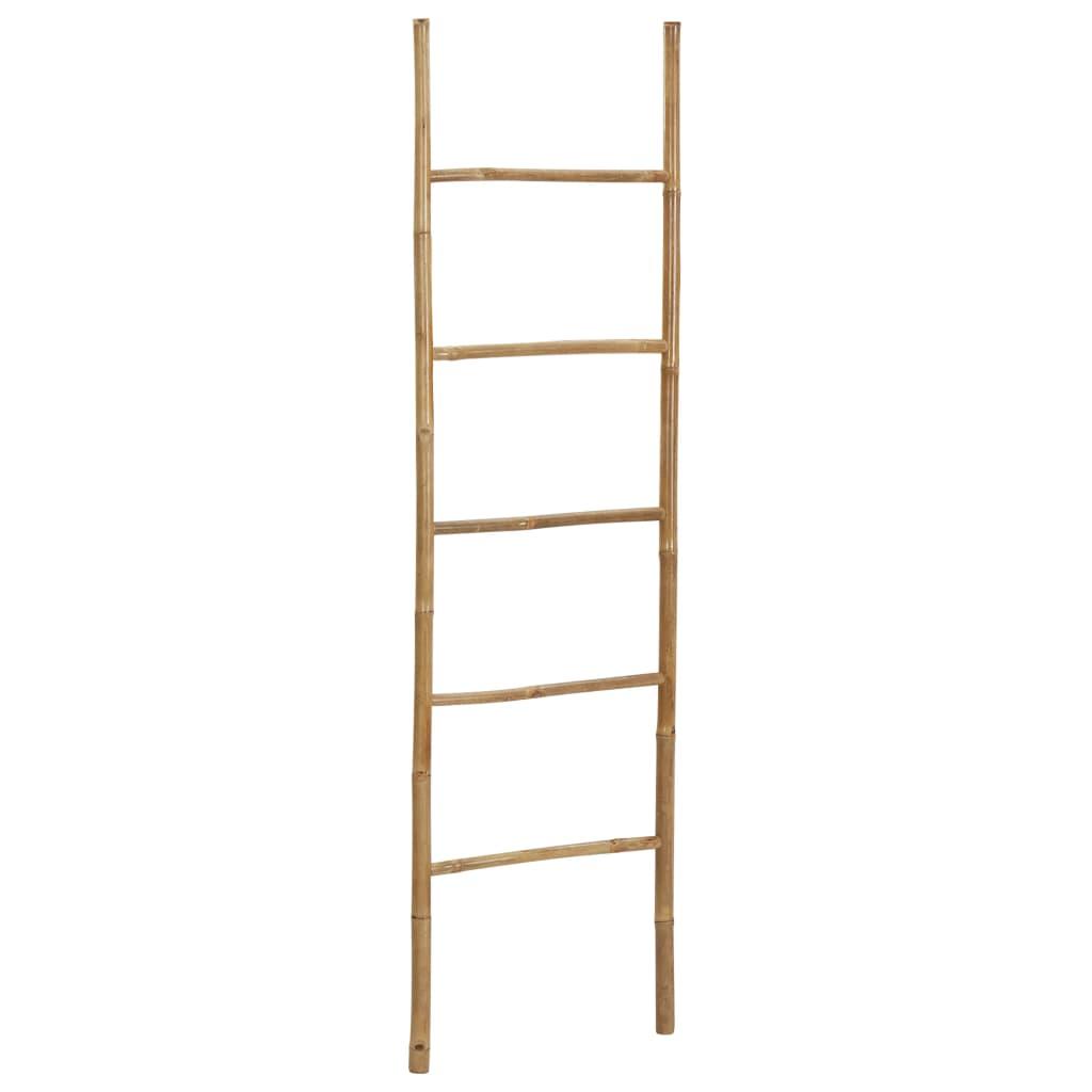 vidaXL Rebrík na uteráky s 5 priečkami bambus 170 cm