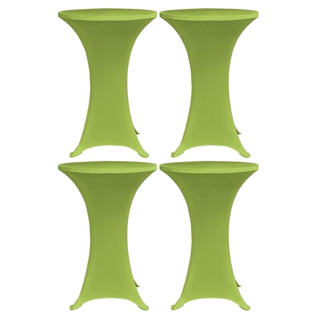 vidaXL Naťahovacie obrusy na stôl 4 ks zelené 70 cm