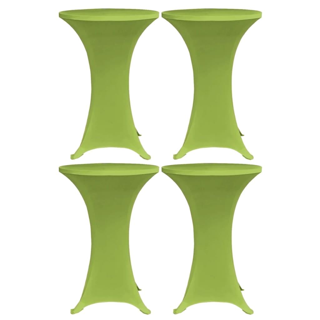 vidaXL Naťahovacie obrusy na stôl 4 ks zelené 80 cm