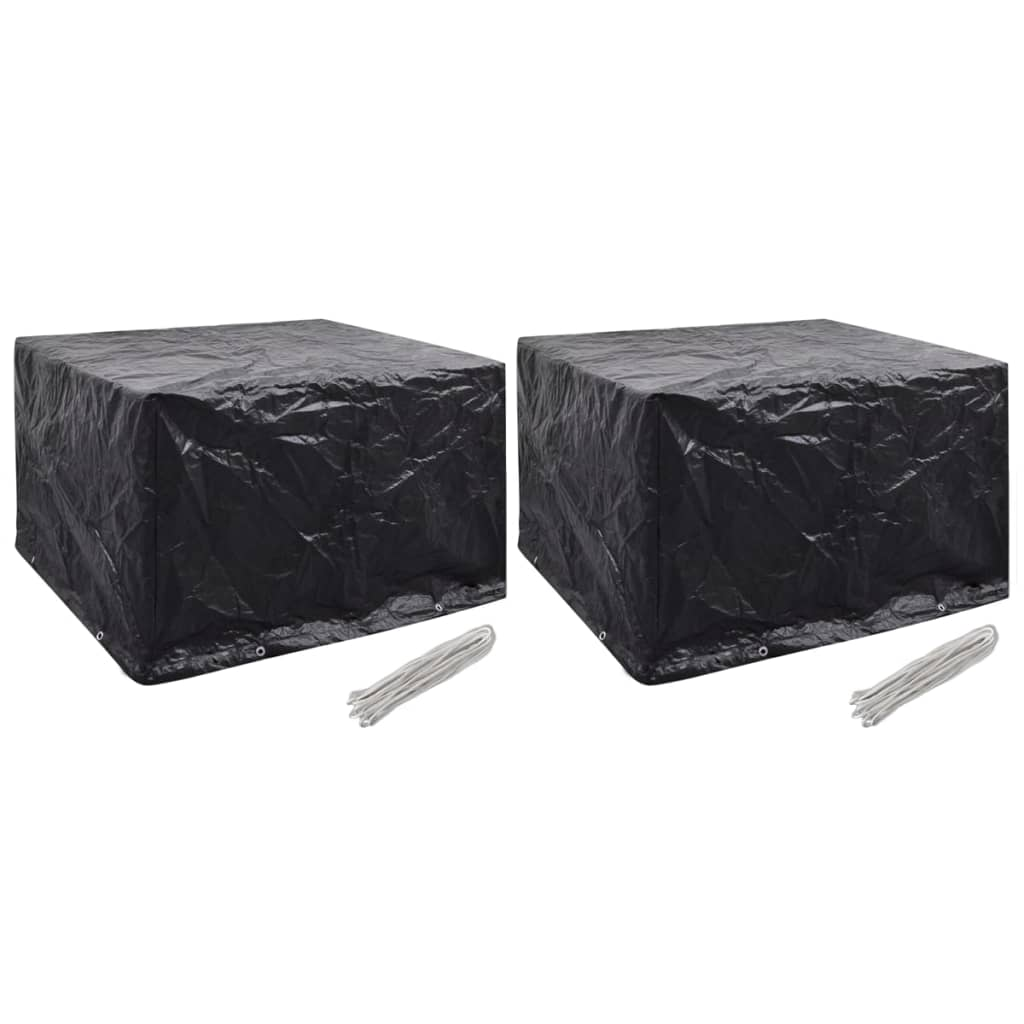 vidaXL Ochranné obaly na záhradný nábytok 2 ks 135x135cmx90 cm 8 očiek