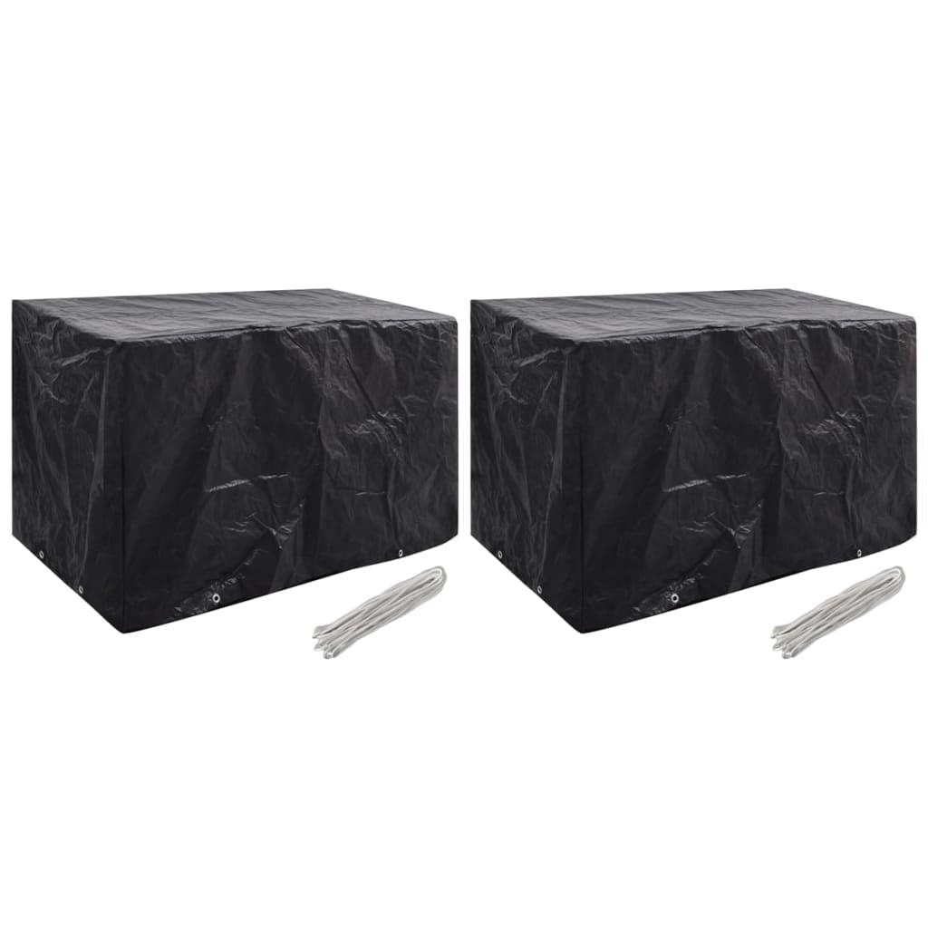 vidaXL Ochranné obaly na záhradný nábytok 2 ks 140x70x90 cm 8 očiek